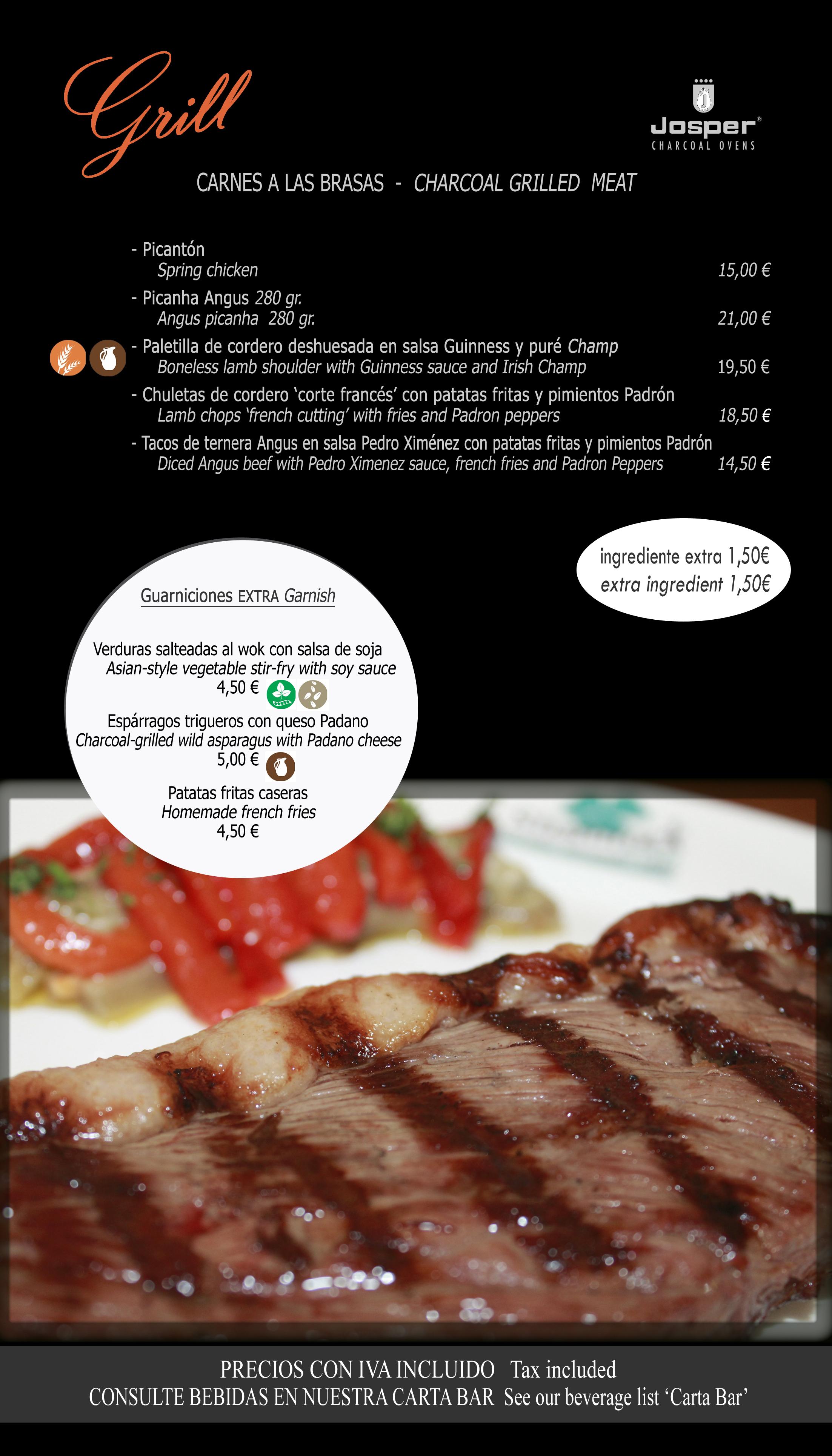 4 grill carnes 35x20cm