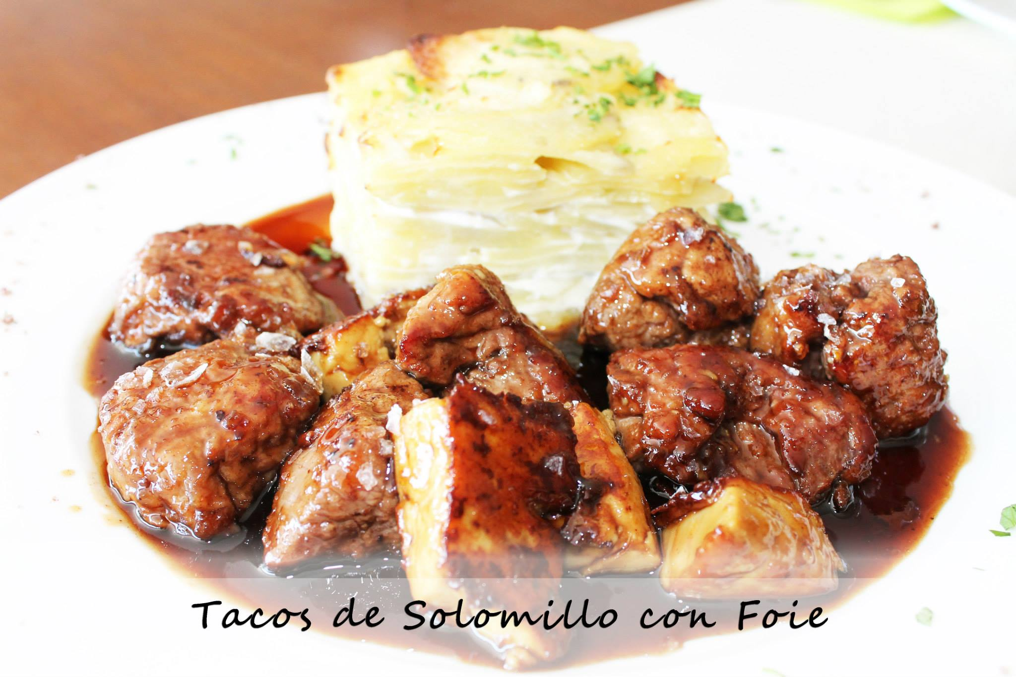 shamrock palma tacos solomillo con foie