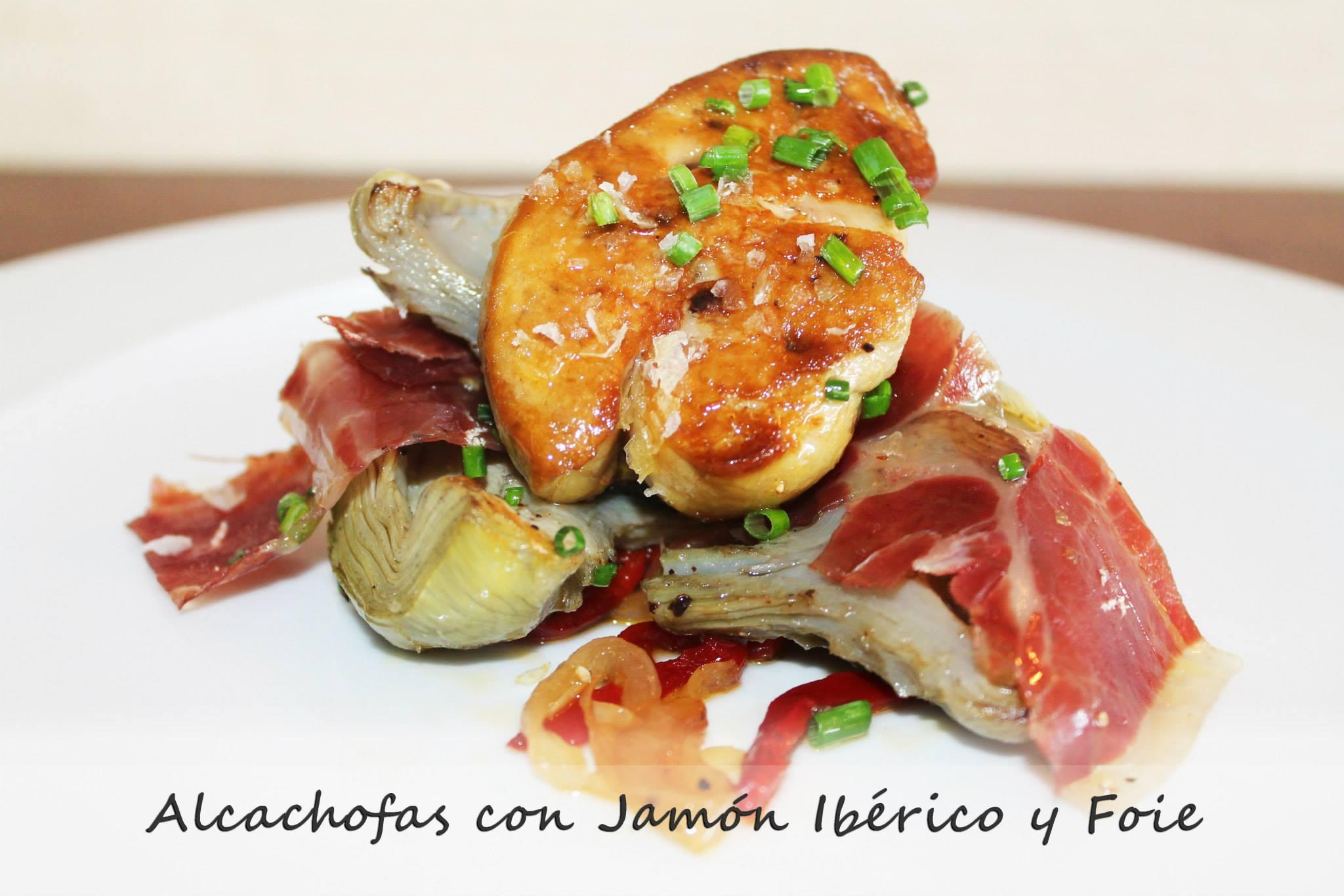 restaurante shamrock palma alcachofas con jamon iberico y foie